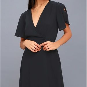 Lulu's Navy Mini Dress